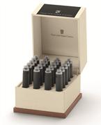 Graf von Faber-Castell Özel Saklama Kutulu Dolma kalem Kartuşu 20 adet - Kömür Siyah