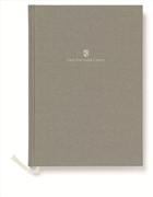 Graf von Faber-Castell Dikişli Keten Kapaklı Not Defteri A5 - Gri
