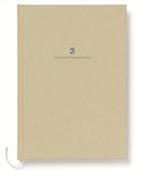 Graf von Faber-Castell Dikişli Keten Kapaklı Not Defteri A5 - Altın Kahverengi