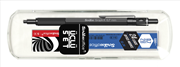 Scrikss Graph-X Mat Siyah 0.7mm Mekanik Kurşun Kalem + Silgi + 24Lü-0.7mm-2B Uç