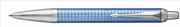 Parker IM Premium Chrome Grafik Kare Gravürlü Mavi Tükenmez Kalem