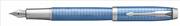 Parker IM Premium Chrome Grafik Kare Gravürlü Mavi Dolma Kalem