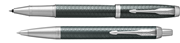 Parker IM Premium Çapraz Gravürlü Nefti Yeşil Roller Kalem + Tükenmez Kalem