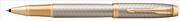 Parker IM Premium Warm Silver/Gold Çapraz Gravürlü Roller Kalem