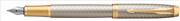 Parker IM Premium Warm Silver/Gold Çapraz Gravürlü Dolma Kalem