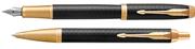 Parker IM Premium Matte Black/Gold Dolma Kalem + Tükenmez Kalem