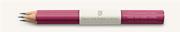 Graf von Faber-Castell Sedir Ağacı Guilloche İşlemeli Pembe gövdeli Kurşun Kalem 3 lü