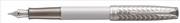 PARKER Sonnet İnci Lake/Metal Gravür İşlemeli Paladyum/ 18kt. Som Beyaz Altın Uç Dolma Kalem - 2 Farklı Uç Seçeneği