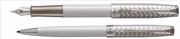 PARKER Sonnet İnci Lake/Metal Gravür İşlemeli Paladyum Dolma Kalem + Tükenmez Kalem