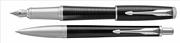Parker Urban Premium Yeni Metalik Abanoz Siyah/Metal Dolma Kalem + Tükenmez Kalem