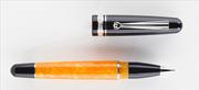DELTA DolceVita Fusion Siyah-Turuncu Selüloit Reçine/Rodyum-Gümüş Roller Kalem