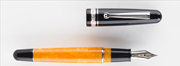 DELTA DolceVita 18kt. Fusion Siyah-Turuncu Selüloit Reçine/Rodyum-Gümüş Dolma Kalem