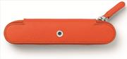 Graf von Faber-Castell Epsom Deri Yanık Turuncu Tekli Kalem Kılıfı