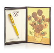 VISCONTI Van Gogh-Sunflowers Vegetal Resin Tükenmez kalem<br><img src= resim/mypenli.gif  border= 0 />