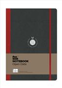 Flexbook Notebook Open Date Açık Tarihli Esnek Kapak Siyah/Kırmızı Kenar 17x24cm