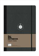 Flexbook Notebook Open Date Açık Tarihli Esnek Kapak Siyah/Siyah Kenar 17x24cm