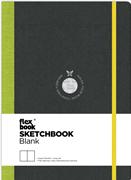 Flexbook Sketchbook Esnek Kapak Siyah/Yeşil Kenar 15,5x21,5cm