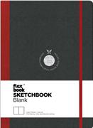 Flexbook Sketchbook Esnek Kapak Siyah/Kırmızı Kenar 15,5x21,5cm