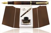 Pelikan Classic 200 Smoky Quartz Dolma Kalem + Edelstein Mürekkep - 4 Farklı Uç Seçeneği
