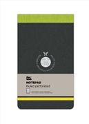 Flexbook Notepad Ruled Esnek Kapak Üsten Açılır Siyah/Yeşil Kenar 10x17cm