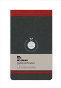 Flexbook Notepad Ruled Esnek Kapak Üsten Açılır Siyah/Kırmızı Kenar 10x17cm