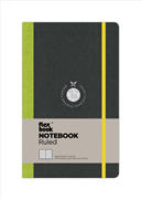 Flexbook Notebook Ruled Esnek Kapak Siyah/Yeşil Kenar 13x21cm