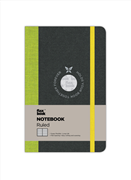 Flexbook Notebook Ruled Esnek Kapak Siyah/Yeşil Kenar 9x14cm