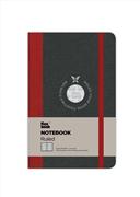 Flexbook Notebook Ruled Esnek Kapak Siyah/Kırmızı Kenar 9x14cm