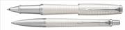 Parker Urban Premium Metalik İnci Beyaz/Krom Roller Kalem + Tükenmez Kalem