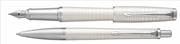 Parker Urban Premium Metalik İnci Beyaz/Krom Dolma Kalem + Tükenmez Kalem