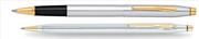 Cross Century Classic Medalist Krom/Altın Roller kalem + Tükenmez Kalem