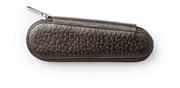 Faber-Castell Zip Damarlı Koyu Kahve Dana Derisi Fermuarlı Kapak İkili Kalemlik