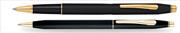 Cross Century Classic Mat Siyah/Altın Roller kalem + Tükenmez Kalem