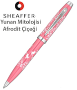 "Sheaffer100 ""Greek Mythology Aphorodite Floral"" Lake Pembe Tükenmez Kalem"