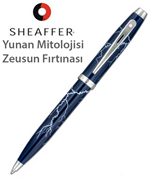 "Sheaffer100 ""Greek Mythology Zeus s Thunderstorm"" Lake Lacivert Tükenmez Kalem"