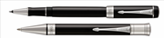 Parker Duofold Classic1921 Black-Akrilik/Paladyum Roller Kalem + Tükenmez Kalem