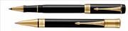 Parker Duofold Classic1921 Black-Akrilik/Altın Roller Kalem + Tükenmez Kalem