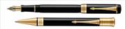 Parker Duofold Classic1921 Black-Akrilik/Altın Dolma Kalem + Tükenmez Kalem