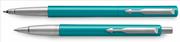 Parker Vector Turkuaz/Krom Roller Kalem + Tükenmez Kalem<br><img src= resim/isyaz.gif  border= 0 />