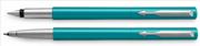 Parker Vector Turkuaz/Krom Dolma Kalem + Roller Kalem<br><img src= resim/isyaz.gif  border= 0 />