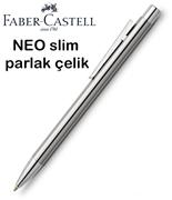 Faber-Castell Neo Slim Parlak Lake Çelik Tükenmez Kalem
