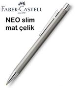 Faber-Castell Neo Slim Mat Lake Çelik Tükenmez Kalem