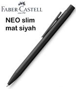Faber-Castell Neo Slim Mat Siyah Lake Çelik Tükenmez Kalem