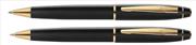 Scrikss 35 Mat Siyah/Altın Tükenmez Kalem + Versatil Kalem