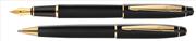 Scrikss 35 Mat Siyah/Altın Dolma Kalem + Tükenmez Kalem
