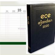 """Ece ANADOLU """"Günlük-Ticari"""" Siyah Sert Kapak 2020 Ajanda 17x25cm"""