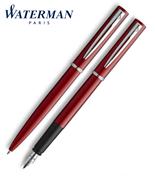 Waterman Allure Kırmızı/Paladyum Dolma Kalem + Tükenmez Kalem