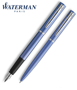 Waterman Allure Mavi/Paladyum Dolma Kalem + Tükenmez Kalem