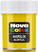 Nova Color Akrilik Boya Şişe 30cc  Sarı Nc-169