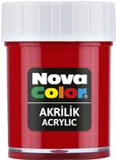 Nova Color Akrilik Boya Şişe 30cc  Kırmızı Nc-170